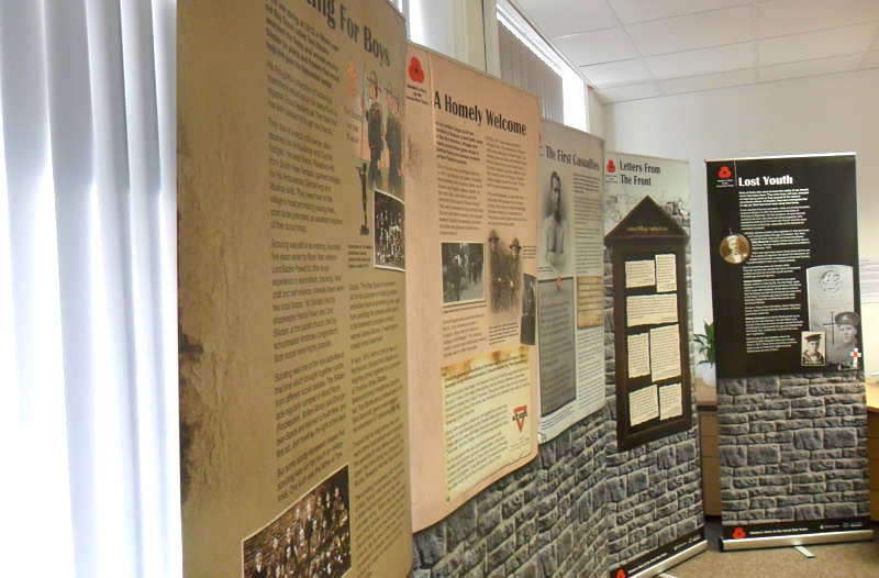 Exhibition at Bradford Mechanics Institute Library